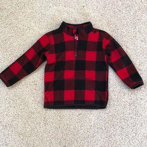Checkered Fleece Sweatshirt